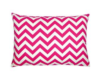 Cushion cover pink white zigzag CHEVRON 40 x 60 cm