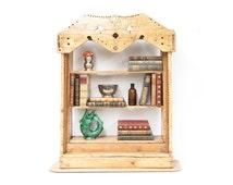 Unique Irish Pine Folk Art Shelf