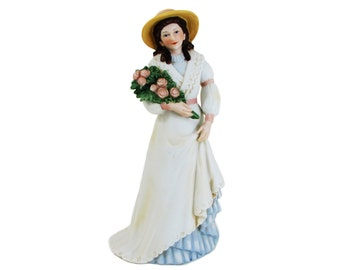 Charlotte Rose Victorian Lady Porcelain Figurine Homco 1468 Woman Roses Home Interiors
