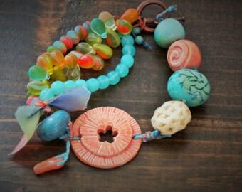 Bright Beach Beauty - Bracelet, Artisan, Casual, Beachy, Summer