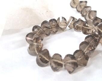 "Smoky Quartz Pillow Shape Beads Approx. 7mm, 10""L"