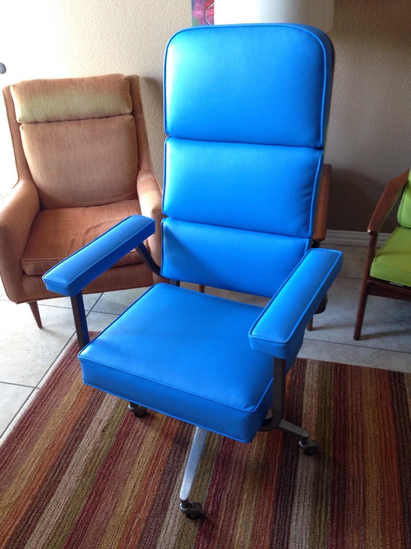 Vintage Mid Century Modern Swivel Office Chair By Eck Adams