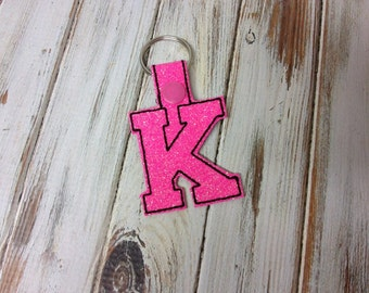 "2 Inch Letter ""K"" SNAP Key Fob In The Hoop - DIGITAL Embroidery DESIGN"