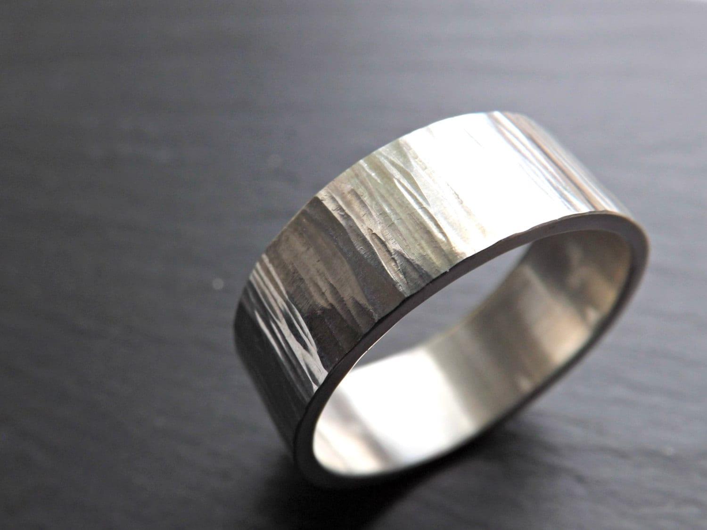 Wide Mens Ring Mens Wedding Band Silver Wedding Ring By CrazyAssJD