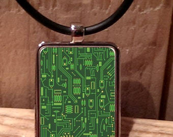 Circuit Board Computer Geek Necklace