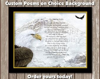 Personalized Custom Poem Printed on choice Background - Printed Poem Ready to Frame Wall Plaque Gift idea