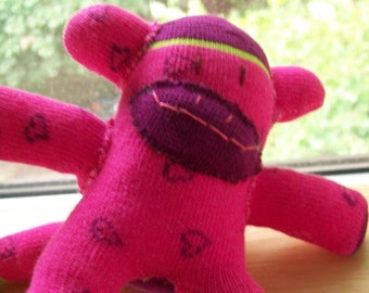 Pink Baby Sock Monkeys