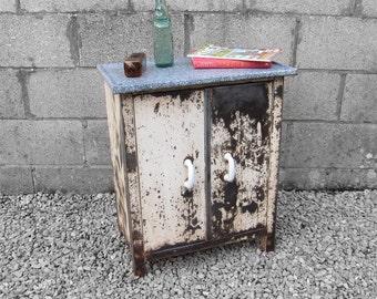 Vintage Industrial Cupboard Enamel Top