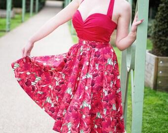 Poppy circle skirt
