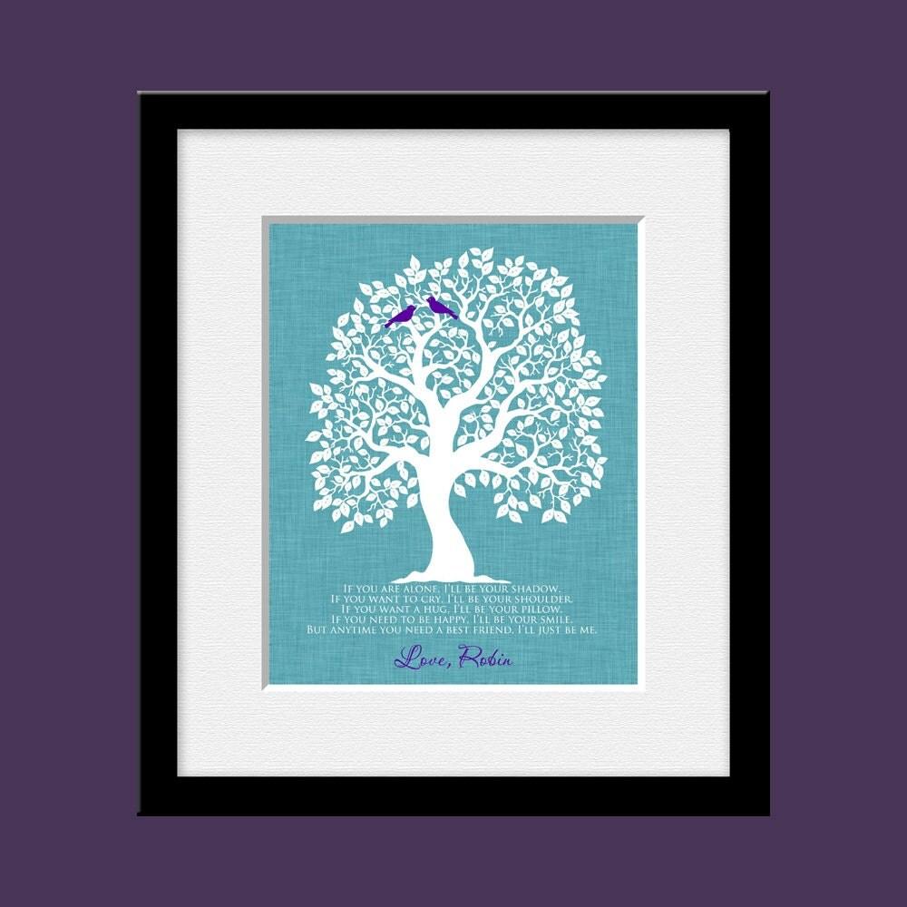 Art Print Wedding Gift : Best Friend Wedding Gift Wall Art Print Bridesmaid Maid of