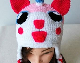 Unikitty Crochet hat ,Birthday gift, Christmas gift.