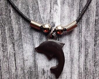 Dolphin Pendant Nylon Necklace