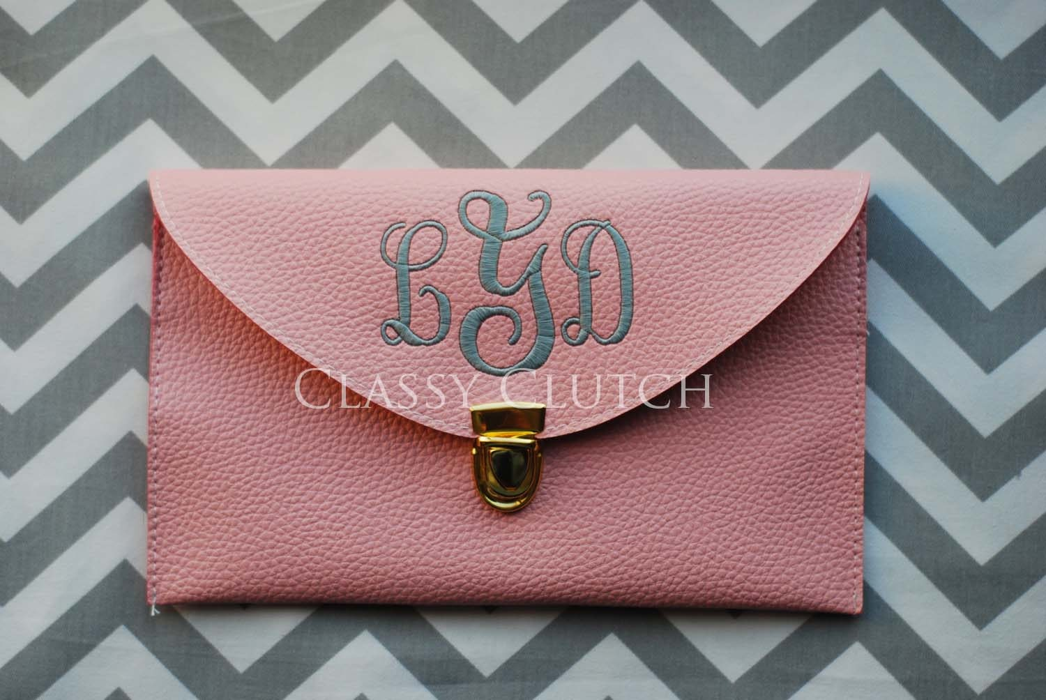 Personalized Bridesmaid Gift Monogrammed Clutch Envelope