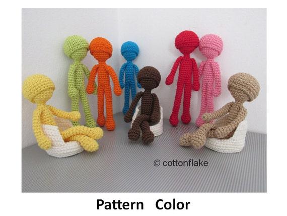 Amigurumi Human Body : Pattern Color , doll amigurumi crochet, human body ...