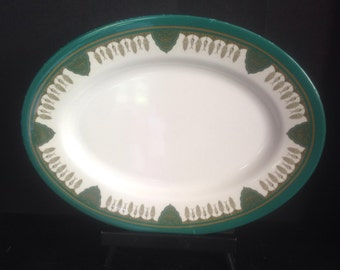 vintage midcentury melamine large oval serving plate platter tray Italy Dynasty pattern
