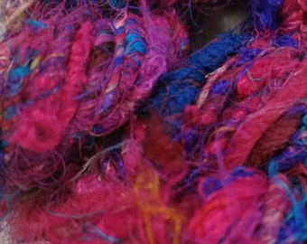 Recycled Sari Silk Yarn - pink