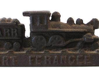 Vintage- Antique cast iron Railroad Advertising piece, medical collectible advertising. Stuart Ferangee-HP  W& ARR