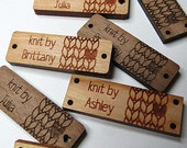 50 - .5 x 1.5 Custom Wood Tags - Knitting Tags - Wood Tags