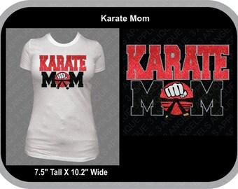 Karate Mom SVG Cutter Design INSTANT DOWNLOAD