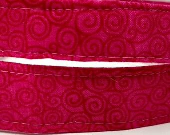 Hot Pink Swirl Dog Collar
