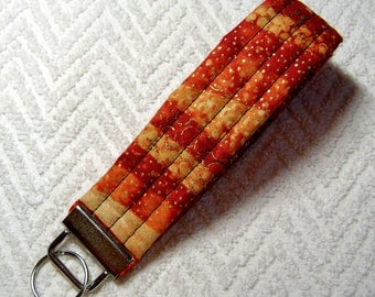 Pumpkin, Orange And Gold Fabric Keychain, Fire Fabric, Fabric, Key Fob, Fabric Keychain, Keychain, OOAK KF-59