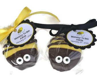 Bumblebee Chocolate Covered Oreo Favor with Favor Tag  - Bumble Bee Baby Shower - Mommy to Bee - Bee Birthday  - Bumble  Bee Party Favor