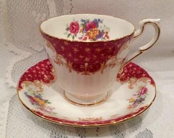 Vintage  Bone China Tea Cup & Saucer  - English - Paragon - Rockingham