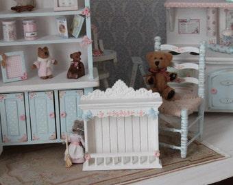 Shabby shelf for dollhouses.  Scale 1 12