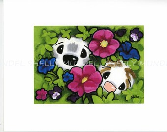 """Art by Shelly Mundel. Ferret People Collection """"Garden Ferrets"""""""