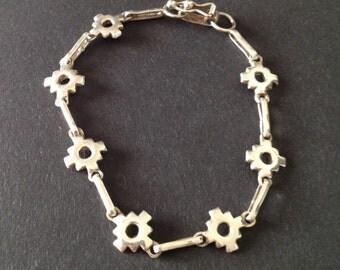 Vintage Retro Sterling Geometric Bracelet