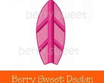 Summer surf surfboard machine embroidery design