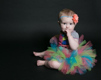 Tutu- Newborn tutu- photo prop- Newborn Neon tutu- First birthday tutu- Hospital Gift- Turquoise tutu- Cake smash tutu-Baby shower gift,Baby