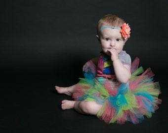 Tutu- Newborn tutu- photo prop- Newborn Neon tutu- First birthday tutu- Hospital Gift- Turquoise tutu- Cake smash tutu-Baby shower gift,Baby