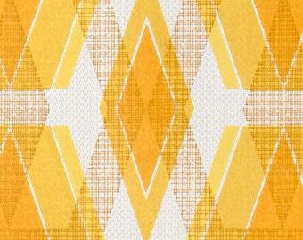 1970s Original GEOMOD MINIMALIST TRI-D Wallpaper Vintage 60s 70s Yellow Hues