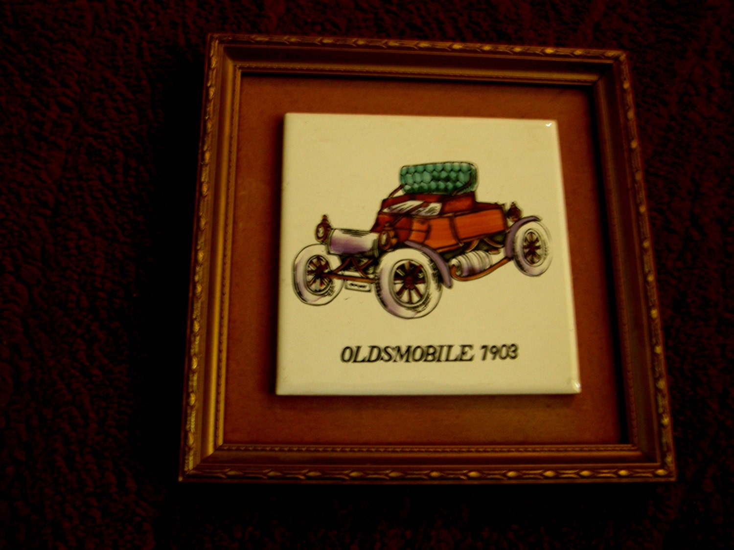 Vintage mid century classic american car ceramic porcelain for American classic frames