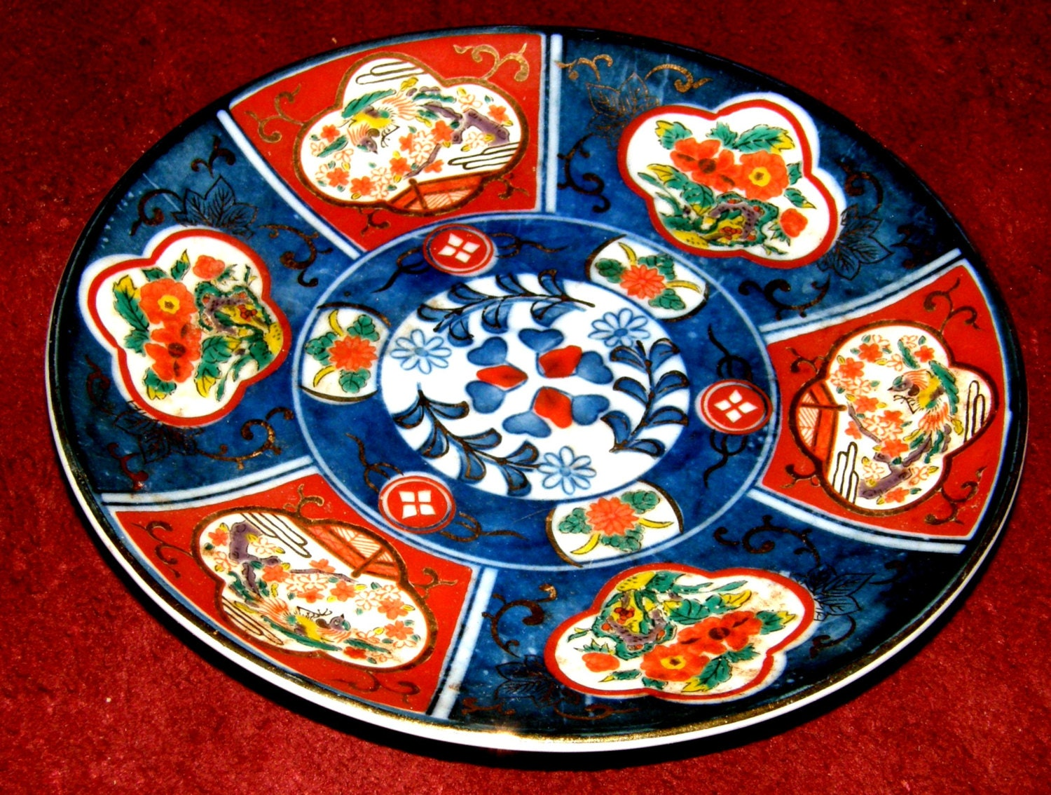 Antique Japanese Imari Plate Oriental Collectible Hand