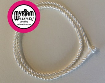 White Ivory Silk Cord Necklace for Pendant and Jewelry - White Ivory Rope Necklace
