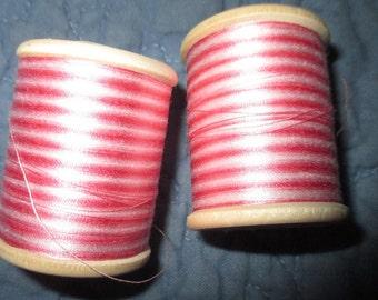 Vintage Retors Brillante 10 Gram Pink and White Thread