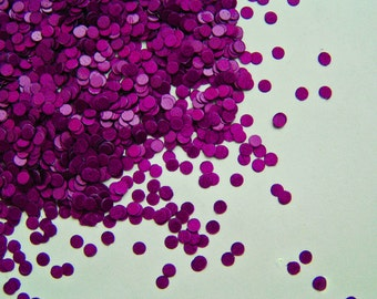 solvent-resistant glitter shapes-purple dots