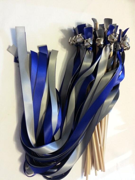 50 Ribbon Bell Wands ~ Divinity Braid ~ Send off Bells ~ Wedding Wands