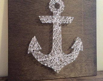 MADE TO ORDER Anchor String Art, Nautical String Art, Nautical Decor, Anchor Decor