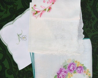 VINTAGE  Lot of 4 HANKIES White   Like New Condition Ships in 24 Hrs.