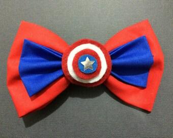 Captain America Inspired Bow Tie