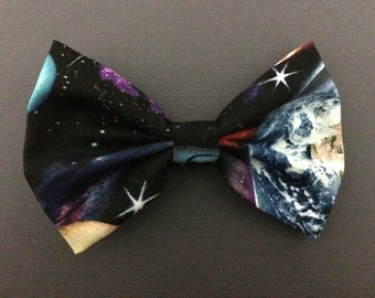Galaxy Space Print Hairbow