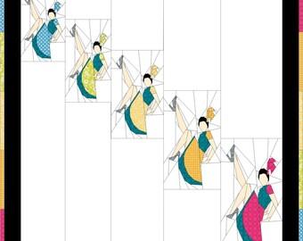 A Chorus Line- Paper Pieced Pattern