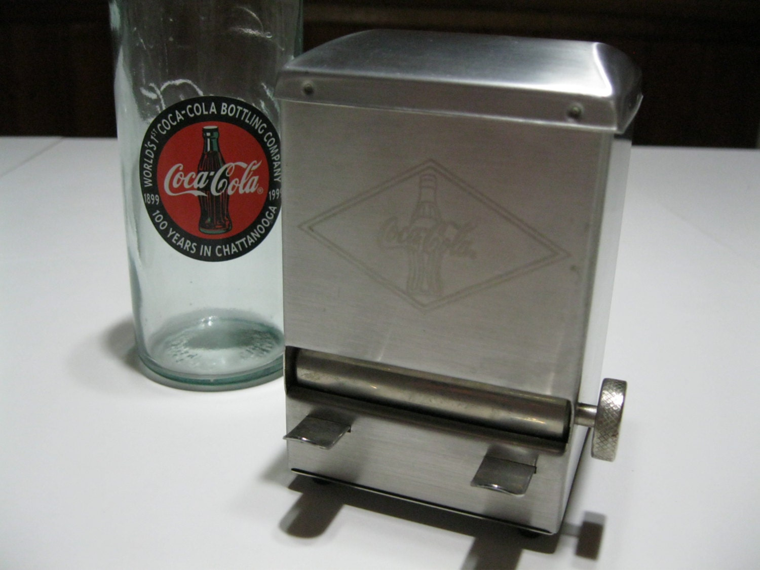 Coca cola toothpick holder dispenser coke stainless steel - Tooth pick dispenser ...