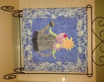 May Flowers Appliqued Wall Hanging