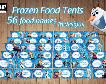 FROZEN Food Tents / Food Labels