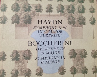 Haydn Symphonyt No 94 in G Major Surprise Boccherini Overture in D Major Symphony in C Minor - Carlo Maria Giulini - vinyl record