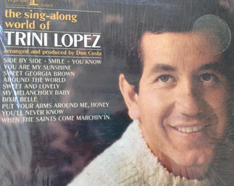 Trini Lopez - The Sing-along world of Trini Lopez- vinyl record